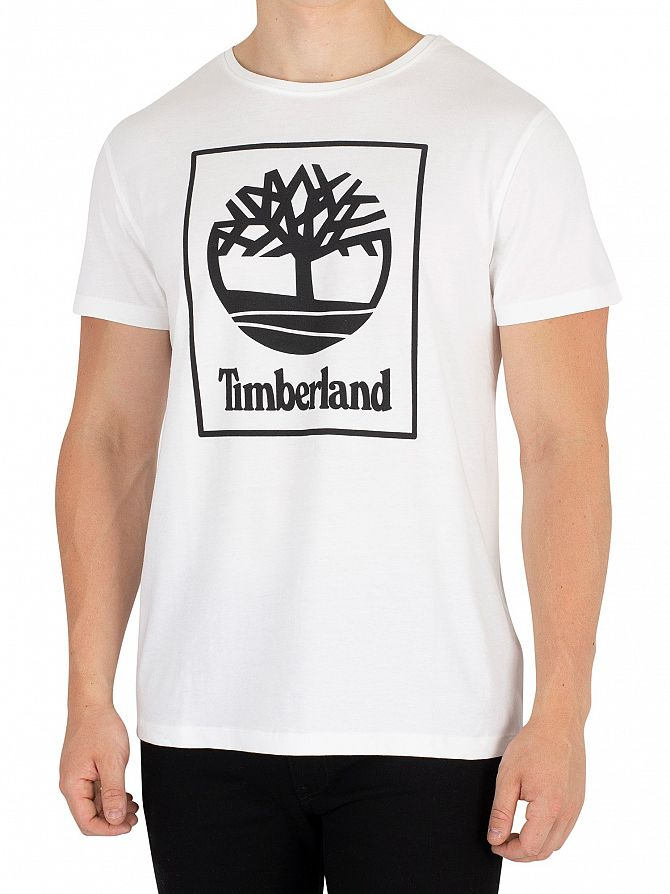 Timberland White Graphic T-Shirt