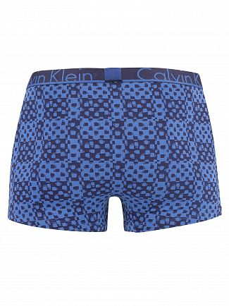 Calvin Klein Counter Print Bold Navy Patten Trunks