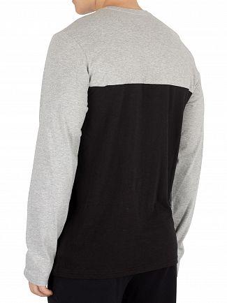 Calvin Klein Grey Heather Graphic Longsleeved T-Shirt