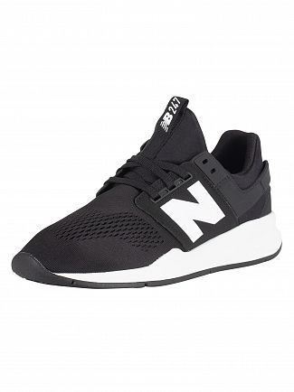 New Balance Black/White 247 Trainers