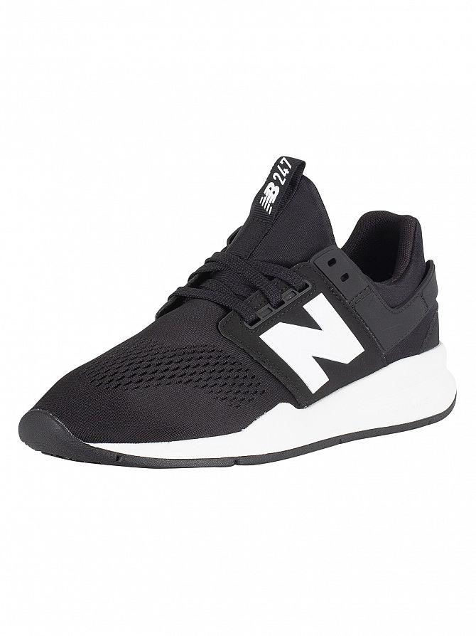 New Balance Black/White 247 Trainers