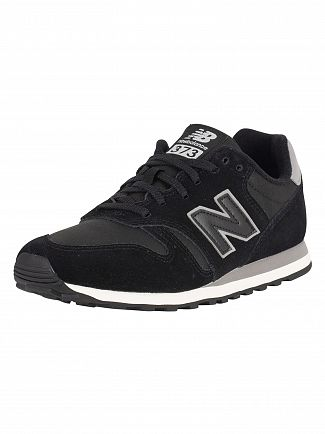 New Balance Black/Grey 373 Suede Trainers