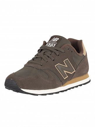 New Balance Brown 373 Suede Trainers