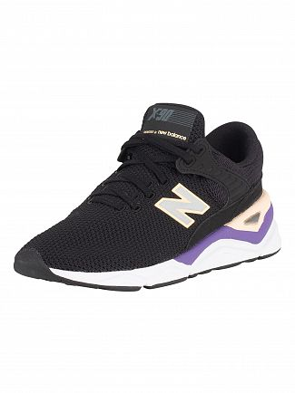 New Balance Black/Purple/Pink X-90 Trainers