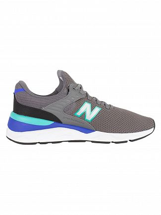 New Balance Grey/Blue/Green X-90 Trainers