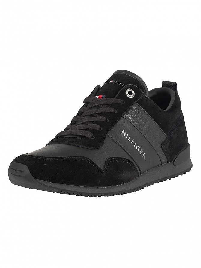 cbdd2e97e Tommy Hilfiger Men s Iconic Leather Suede Trainers