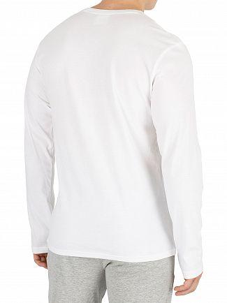 Calvin Klein White Longsleeved Graphic T-Shirt