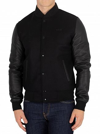 Schott Black LC Baseball Jacket