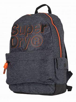 Superdry Grey Marl 2 Tone Logo Montana Backpack