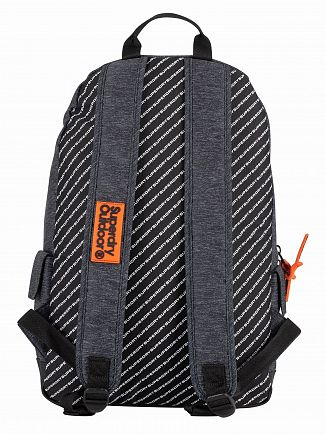 Superdry Grey Marl 2 Tone Logo Montana Backpack
