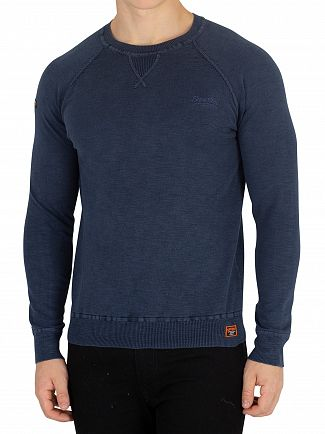 Superdry Washed Dry Storm Navy Garment Dye L.A. Sweatshirt