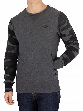Superdry Black/Camo Orange Label Urban Sweatshirt