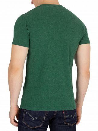 Superdry Bright Mid West Green Grit Orange Label Vintage EMB T-Shirt