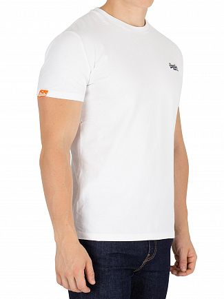 Superdry Optic White Orange Label Vintage EMB T-Shirt