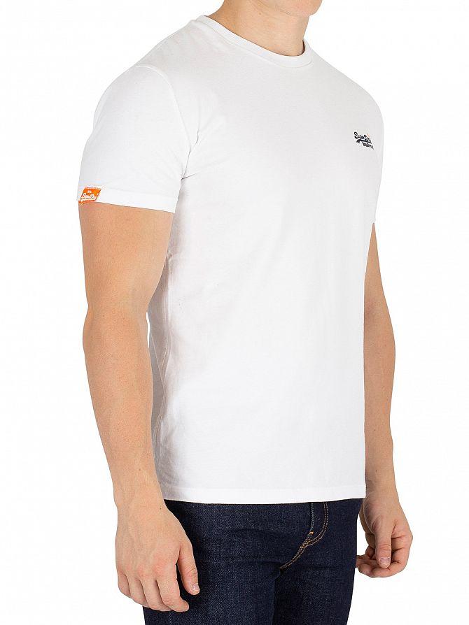 Superdry Optic White Orange Label Vintage EMB T-Shirt
