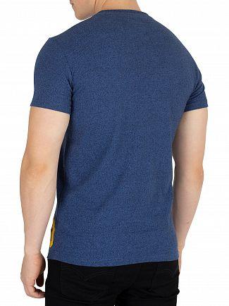 Superdry Blue Black Grit Vintage Authentic Duo T-Shirt