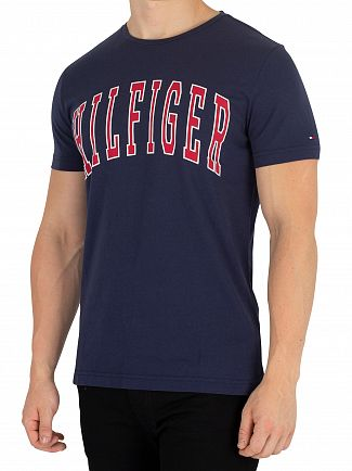 Tommy Hilfiger Black Iris College Logo T-Shirt