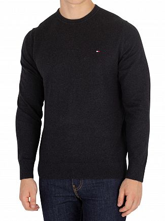 Tommy Hilfiger Jet Black Heather Pima Cotton Cashmere Knit