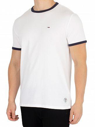 Tommy Jeans Classic White/Black Iris Ringer T-Shirt