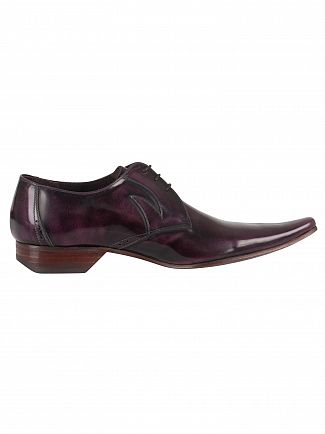 Jeffery West College Aubergine Pino Polished Shoes