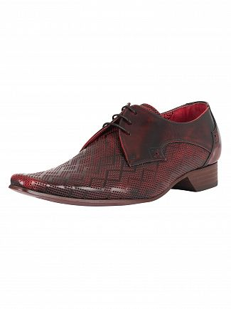 Jeffery West College Red Pino Diamond Shoes