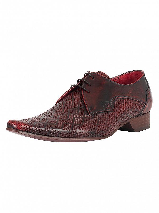 Jeffery West College Red Pino Diamond Shoes