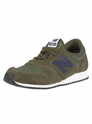 New Balance Covert Green/Pigment 420 Suede Trainers