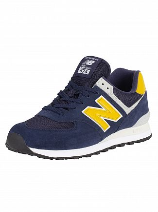 New Balance Pigment/Brass 574 Suede Trainers