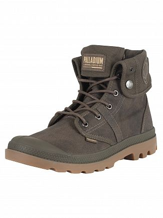 Palladium Major Brown/Gum Pallabrouse Baggy Wax Boots