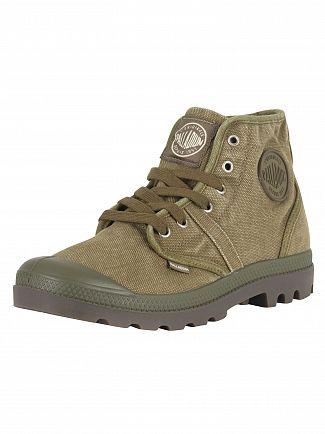 Palladium Dark Olive/Dark Gum Pallabrouse Boots