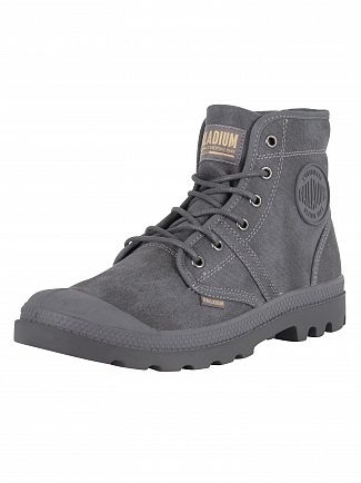 Palladium French Metal/Forged Iron Pallabrouse Wax Boots