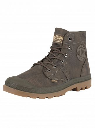 Palladium Major Brown/Gum Pallabrouse Wax Boots