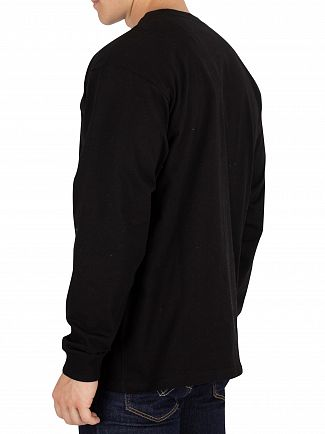 Carhartt WIP Black/Gold Chase Longsleeved T-Shirt