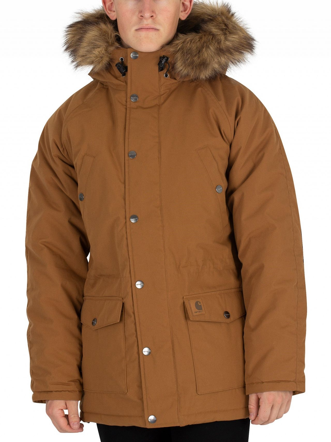 a5517750e Carhartt WIP Hamilton Brown/Black Trapper Parka Jacket