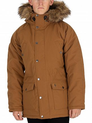 Carhartt WIP Hamilton Brown/Black Trapper Parka Jacket