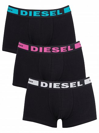 Diesel White/Pink/Blue 3 Pack Kory Instant Looks Trunks