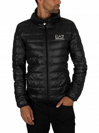 EA7 Black Down Jacket