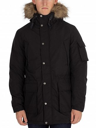 Jack & Jones Black Latte Parka Jacket