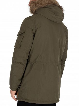 Jack & Jones Forest Night Latte Parka Jacket