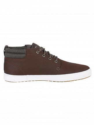 Lacoste Dark Brown/Khaki Ampthill Terra 318 1 CAM Leather Trainers