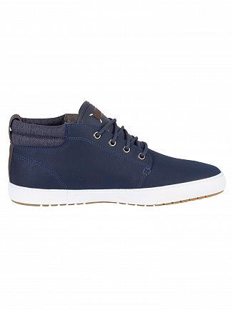 Lacoste Navy/Dark Blue Ampthill Terra 318 1 CAM Leather Trainers