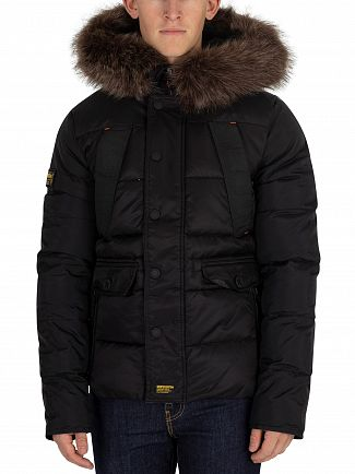 Superdry Black Chinook Parka Jacket
