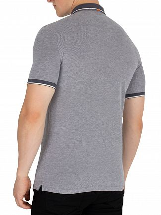 Superdry Grey City Oxford Pique Polo Shirt