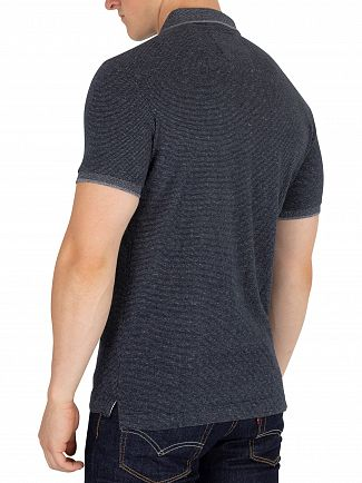 Superdry Navy Fleck Classic Jersey Polo Shirt