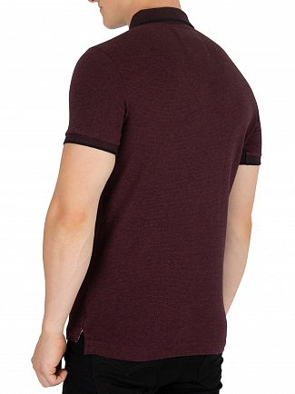 Superdry Deep Port Marl Fleck Classic Jersey Polo Shirt