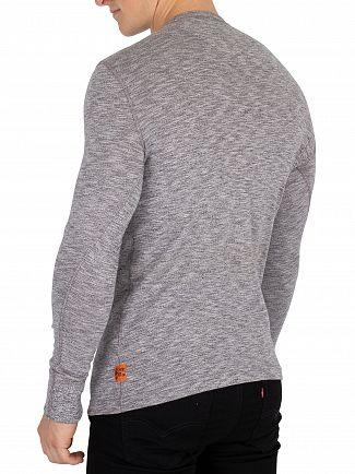 Superdry Grey Grit Heritage Grandad Longsleeved T-Shirt