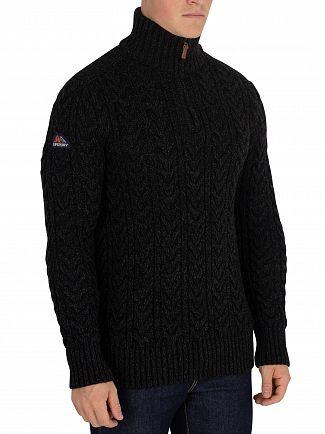 Superdry Blackfriar Twist Jacob Henley Zip Knit
