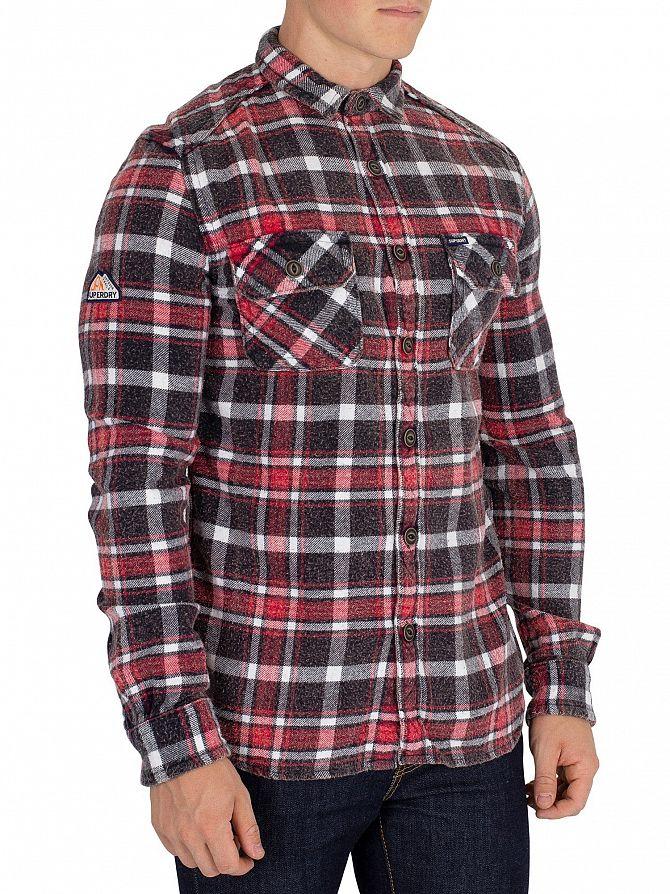Superdry Ops Black Check Merchant Milled Shirt