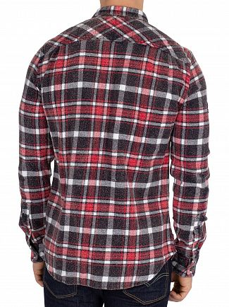 Superdry Ops Black Check Merchant Milled Shirt