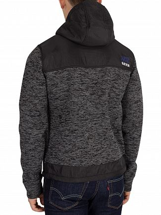 Superdry Black Granite Marl Mountain Zip Jacket